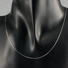 Серебряная цепочка Нить Ариадны в плетении снейк