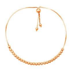 Браслет из красного золота с шариками и алмазной гранью 000133782