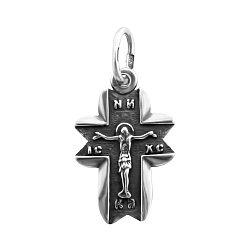 Серебряный крестик Символ веры  000066982
