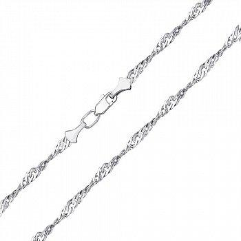 Серебряная цепочка в плетении сингапур, 2 мм 000118302