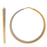 Серьги-кольца из комбинированного золота Оливия