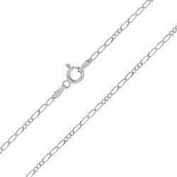 Серебряная цепь Беатриче с родированием 000030833