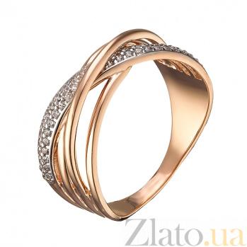 Золотое кольцо Мемори с фианитами  000079591
