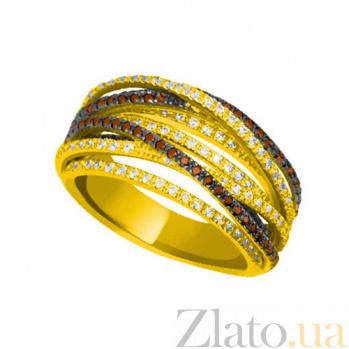 Кольцо из желтого золота Наоми с разноцветными фианитами VLT--ТТТ1241-1