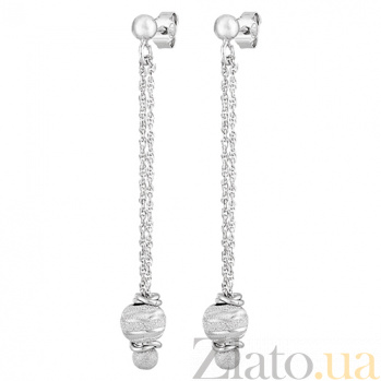 Серьги-висюльки из серебра Чарисса SLX--8826Р