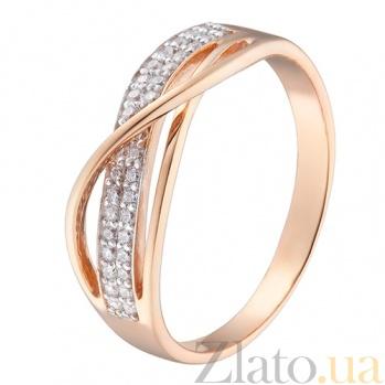 Кольцо в красном золоте Энни с фианитами 000023293