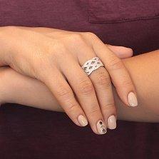 Кольцо из серебра с фианитами Илана