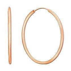 Серьги-конго из красного золота 000117389, 50мм