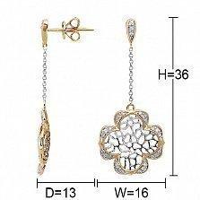 Серьги из золота Царевна с бриллиантами