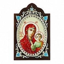 Серебряная икона Богоматери Казанской
