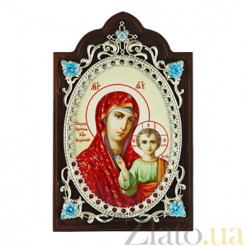 Серебряная икона Богоматери Казанской 2.78.0604