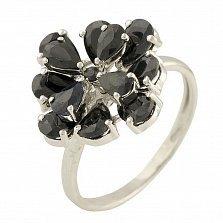 Серебряное кольцо Лаурина с сапфирами