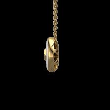 Золотой кулон Соломия с чёрным бриллиантом и белой эмалью