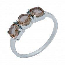 Серебряное кольцо Элеонора с султанитами