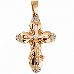 Золотой крест с бриллиантами Одухотворение
