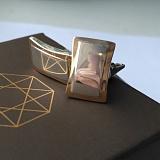 Серебряные запонки Аммо с золотыми вставками