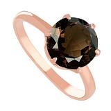 Золотое кольцо с раухтопазом Корнелиа
