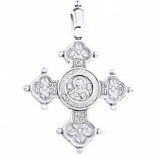 Серебряный крестик Блаженство родированый