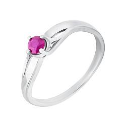 Серебряное кольцо Орланда с рубином
