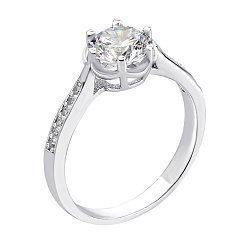 Серебряное кольцо с фианитами 000134322