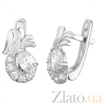 Серебряные серьги с цирконием Берфане SLX--С2Ф/098