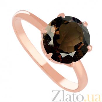 Золотое кольцо с раухтопазом Корнелиа VLN--112-1369-2