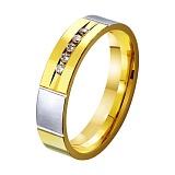 Золотое обручальное кольцо Пламенная страсть