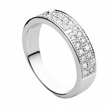 Кольцо из белого золота с бриллиантами Донна