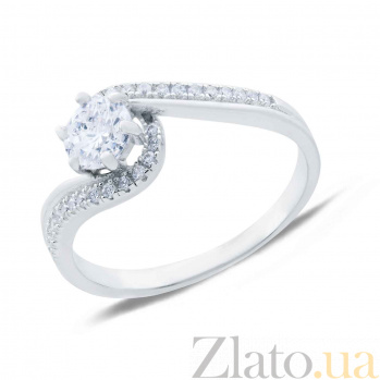 Серебряное кольцо с цирконом Ивона AQA--XJT-0079-R1
