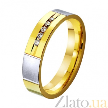 Золотое обручальное кольцо Пламенная страсть  TRF--432371
