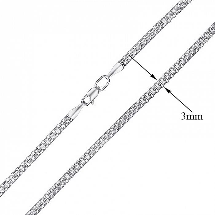 Серебряная цепочка Элегия в плетении двойной якорь, 3мм 000079032