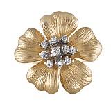 Кольцо из желтого золота с сапфирами Золотой цветок