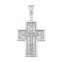 Православный серебряный крестик 000135381