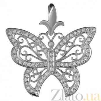Серебряная подвеска Бабочка HUF--4422