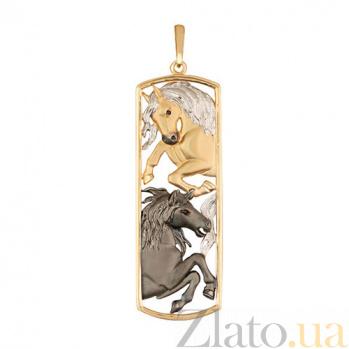 Золотой кулон Кони VLT--Т3539