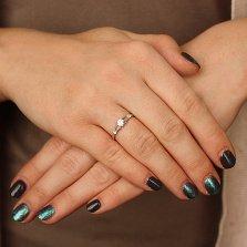 Серебряное кольцо Бриллиантовая роса с фианитами