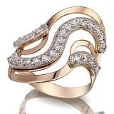 Золотое кольцо с фианитами Первое впечатление