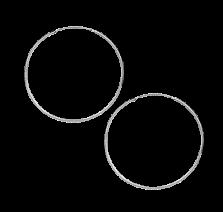 Серьги из серебра Классические кольца