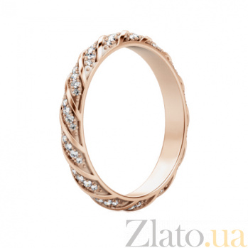 Обручальное кольцо из розового золота Небесная река 577