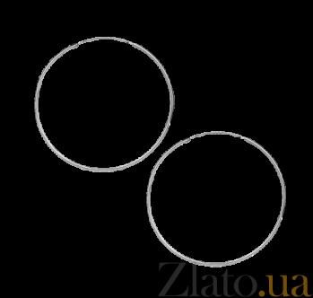 Серьги из серебра Классические кольца SLX--С2/876