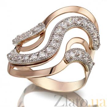 Золотое кольцо с фианитами Первое впечатление TNG--390102