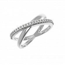 Серебряное кольцо Эдда с цирконием