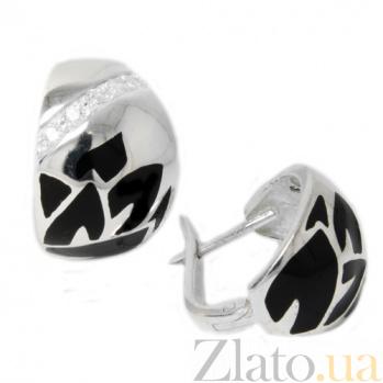 Сережки из серебра Ренесми 200345