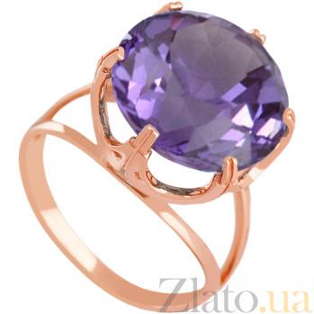 Золотое кольцо с александритом Принцесса 000027262