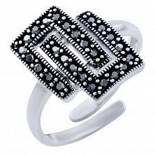 Серебряное кольцо Агнесса с марказитом