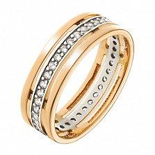 Золотое кольцо Ортанта с фианитами