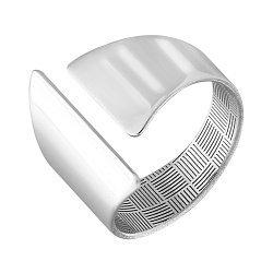 Серебряное разомкнутое кольцо 000124495