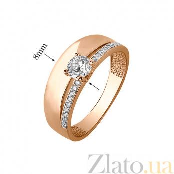 Золотое кольцо с фианитами Валетта SVA--110143010101