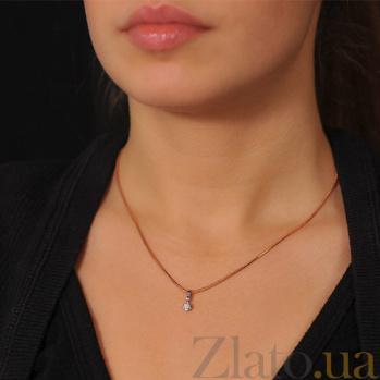 Золотой кулон Эстель с бриллиантом EDM--П7457/1