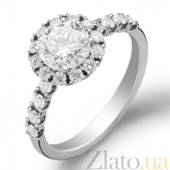 Кольцо для помолвки с бриллиантами Эшли KBL--К1110/бел/брил